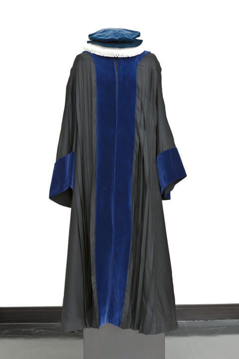 Photo of a black gown, i.e., official dress for full professors