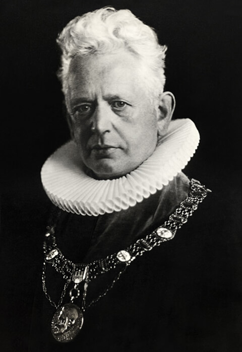 Portrait of Ernst Cassirer as Rector of the University of Hamburg.
