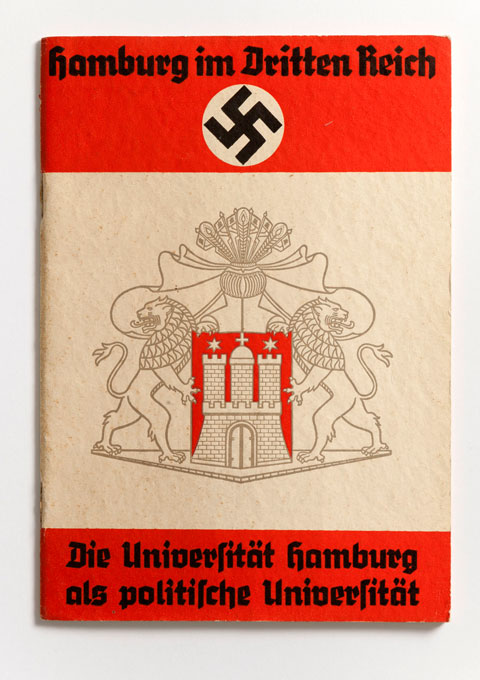 Booklet about th Universität Hamburg as a political university in favor of the Third Reich, Adolf Rein