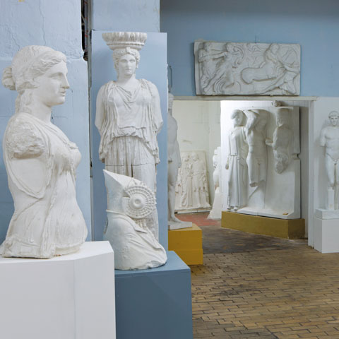 View of statues from the Archaeological Institute's plaster cast collection, 2012