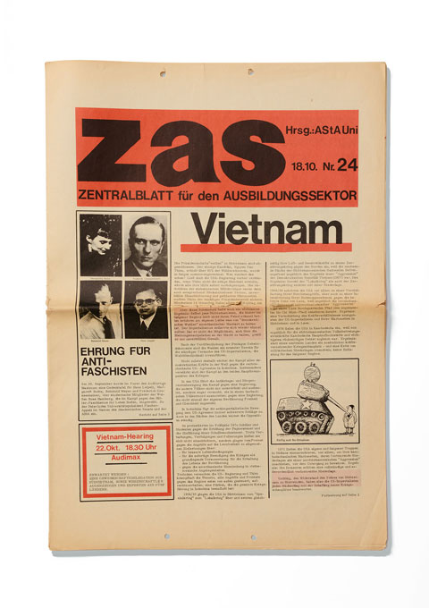 Cover of the student newspaper ZAS, issue 24, from the 18th Oct. 1971